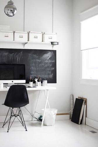 białe biurko w domu inspiracje