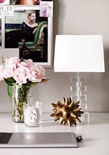 piwonie lampa stołowa inspiracje design