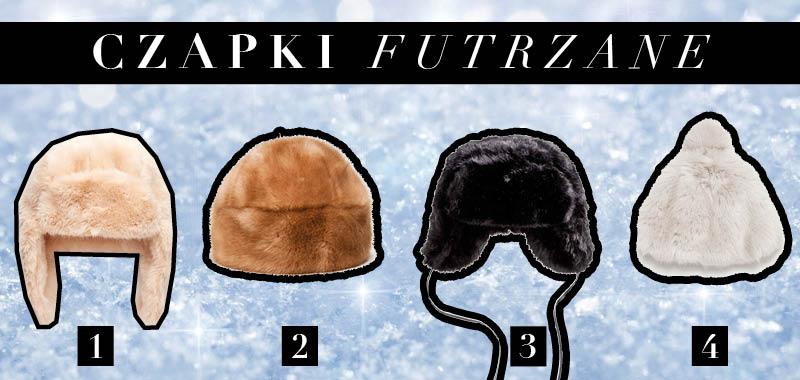 Modne futrzane czapki na zimę