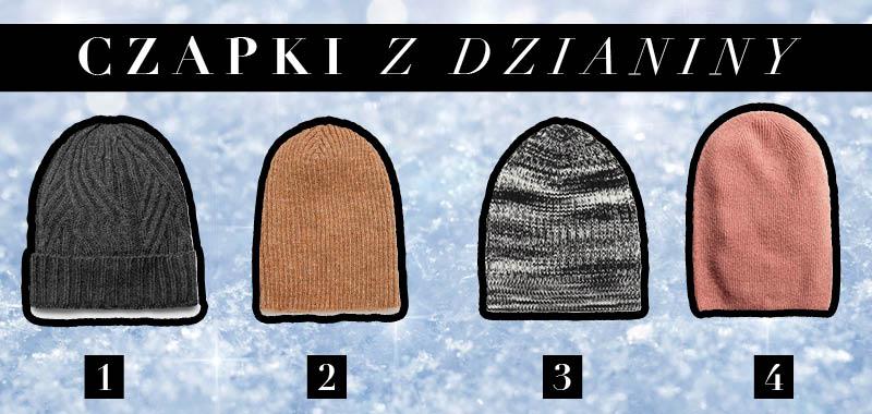 Modne czapki z dzianiny na zimę