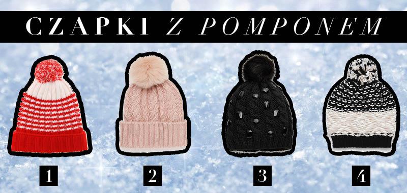 Modne czapki na zimę z pomponem
