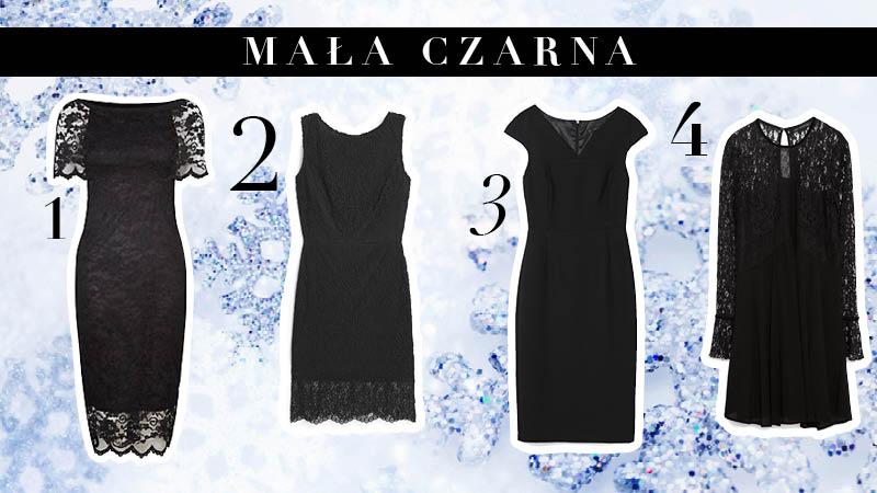 Mała czarna to idealna sukienka na wigilię.