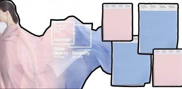 Pantone kolory 2016 - Rose Quartz & Serenity