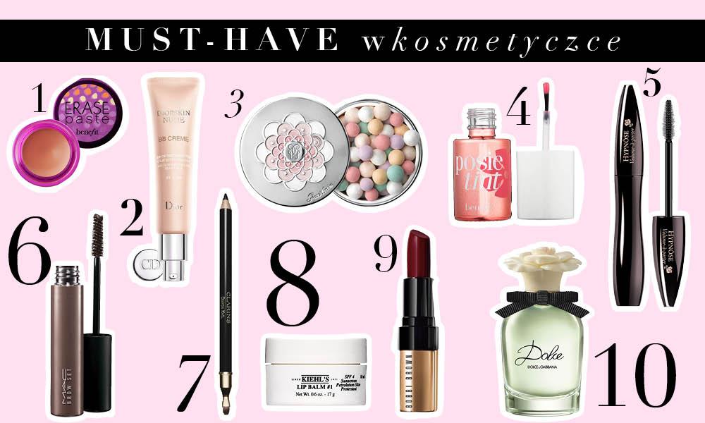 10 najlepszych kosmetyków!