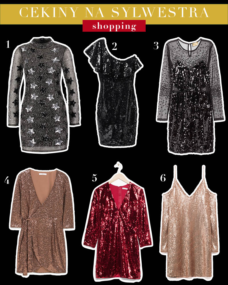 cekinowe sukienki na sylwestra shopping Temat Moda