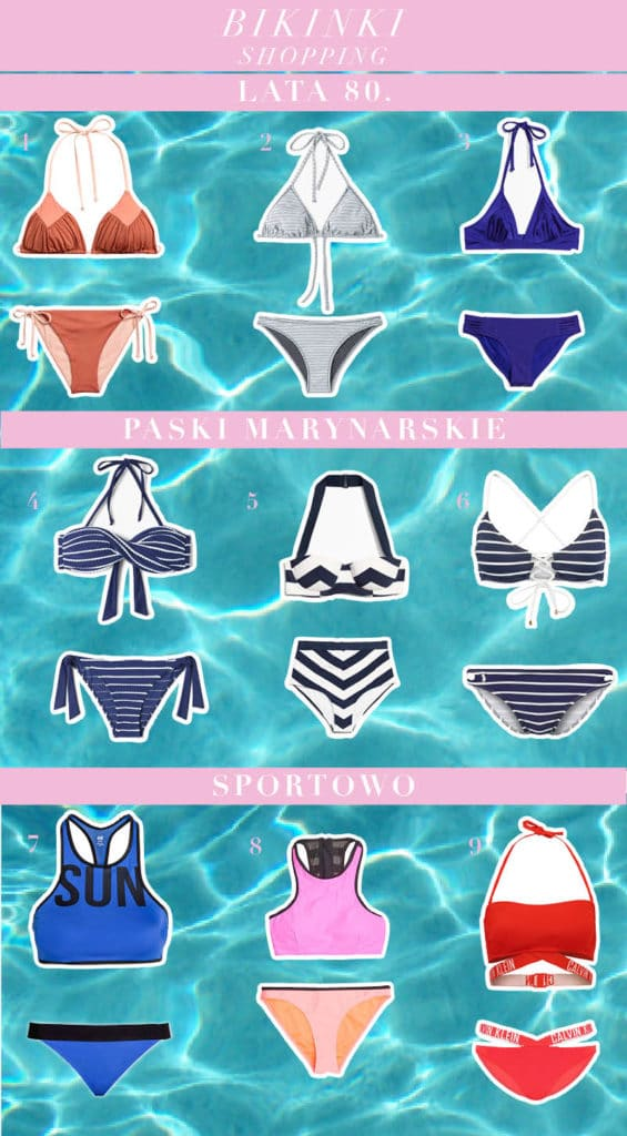 bikini na lato shopping paski marynarskie, sportowe shopping