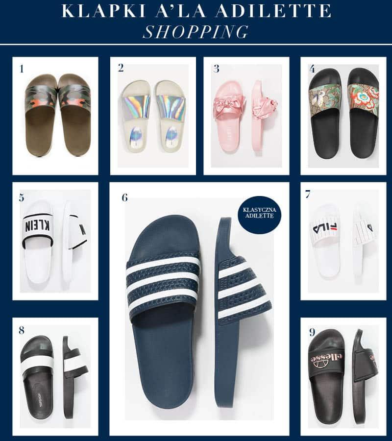 klapki basenowe gumowe jak adidas adilette shopping kup online 2017