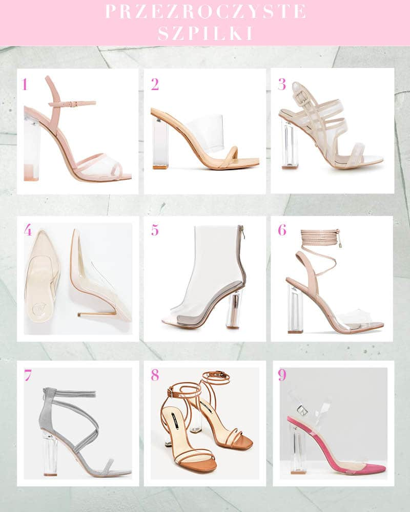 Przezroczyste szpilki – ulubione buty trendsetterek