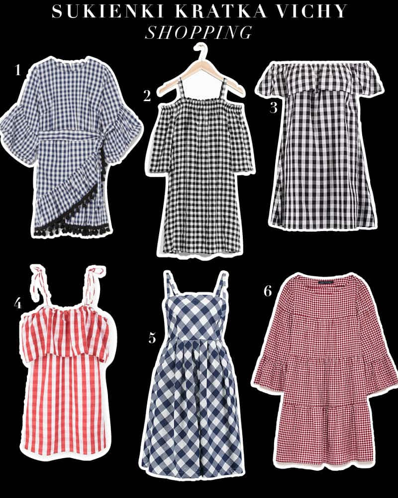 Sukienka w kratkę vichy -stylizacja na lato 2017