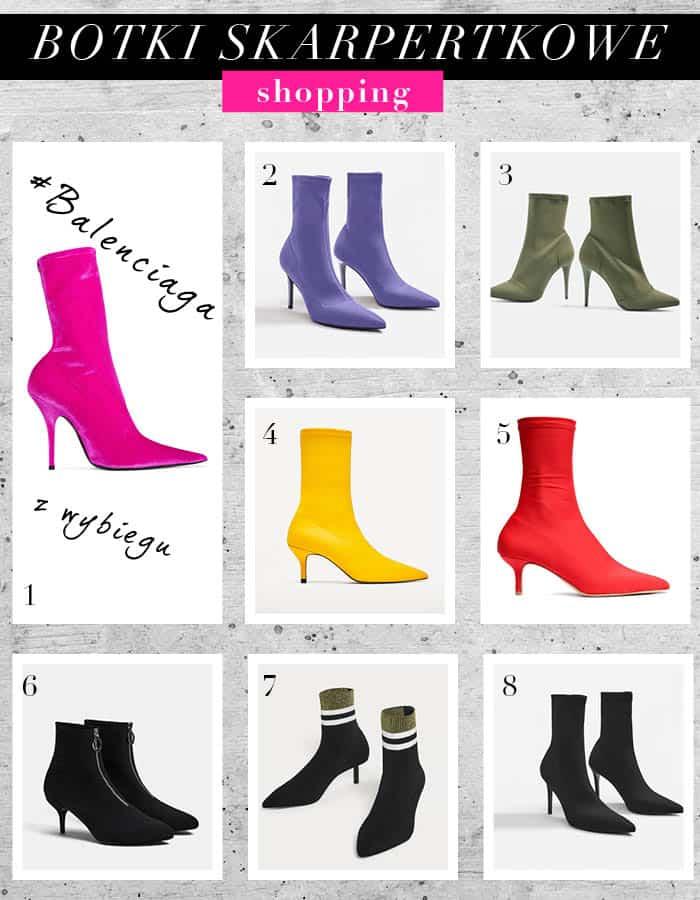 shopping modne botki skarpetkowe na jesien 2017