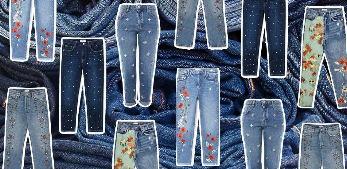 Ozdobne jeansy - hit sezonu