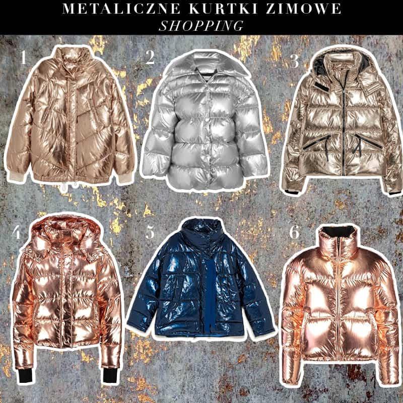 metaliczne kurtki uchowe zimowe 2017 2018