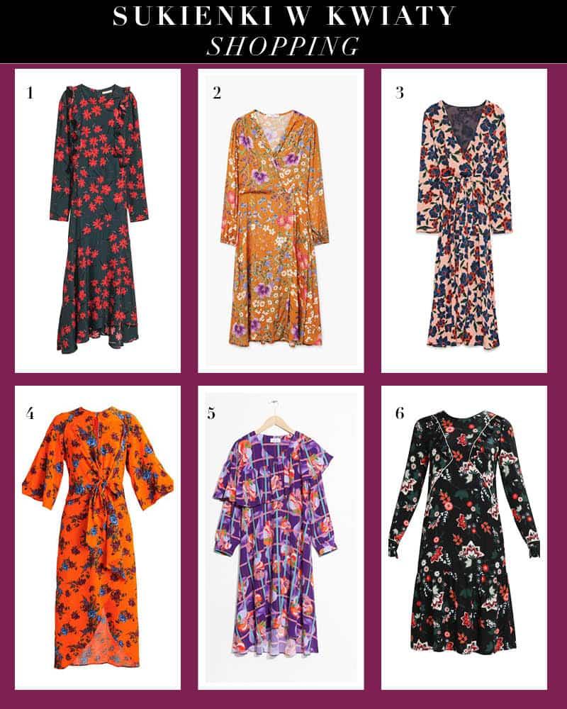 Sukienki w kwiaty na jesień 2017