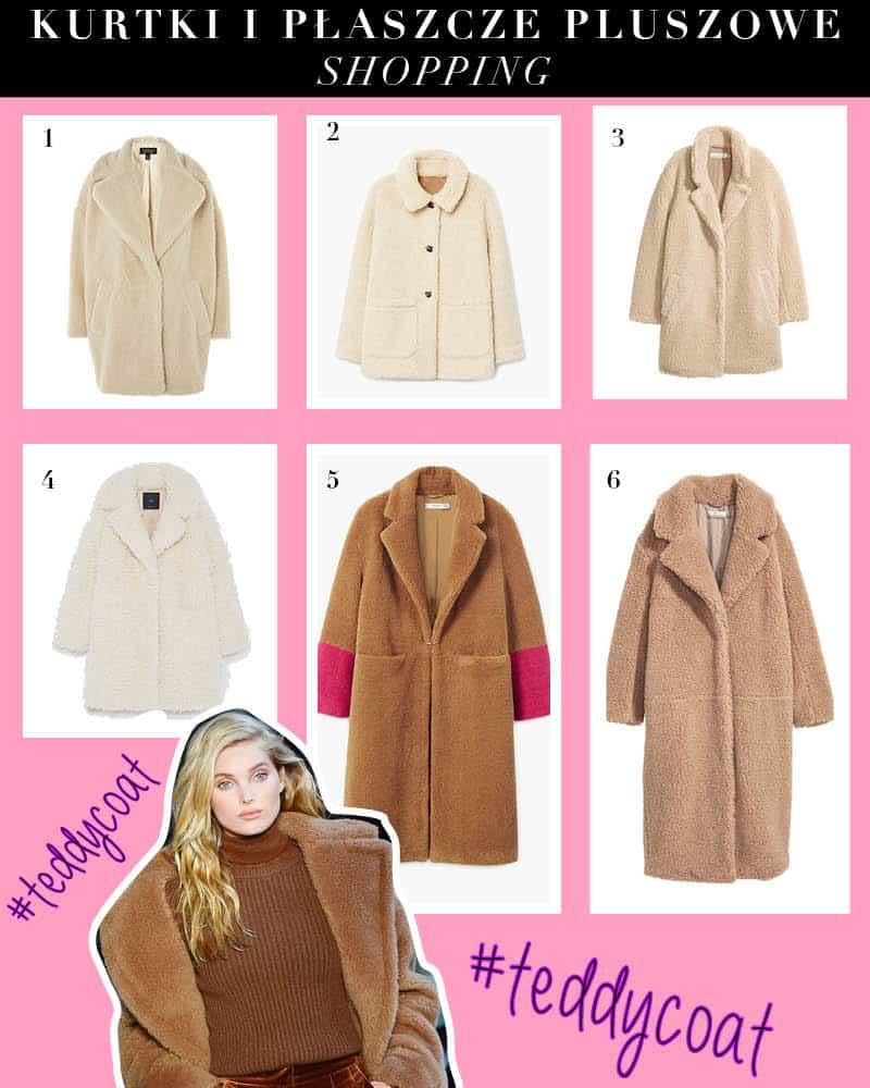 kurtki plaszcze pluszowe teddy coat shopping