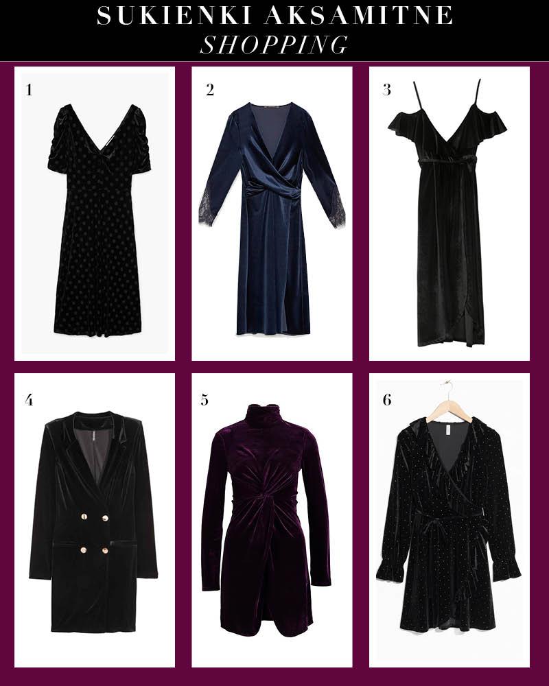Aksamitne sukienki na wigilie trend moda