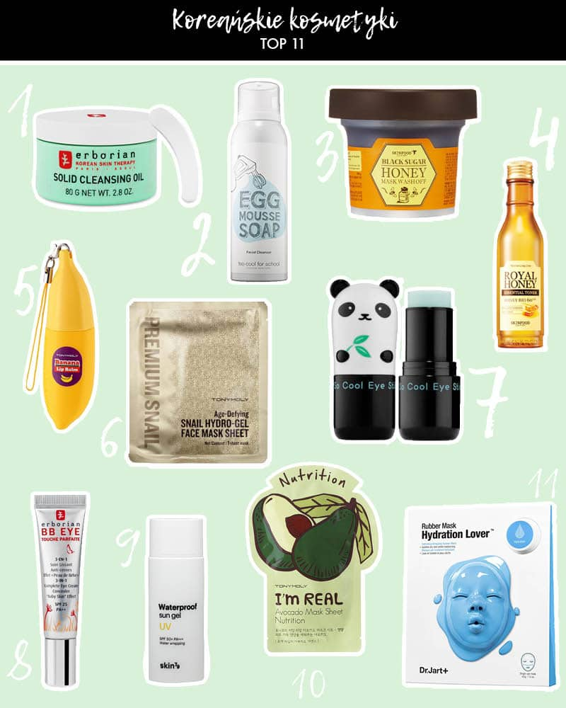 Koreańskie kosmetyki – Top 11