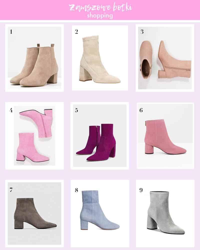 Zamszowe botki - wybór Temat Moda