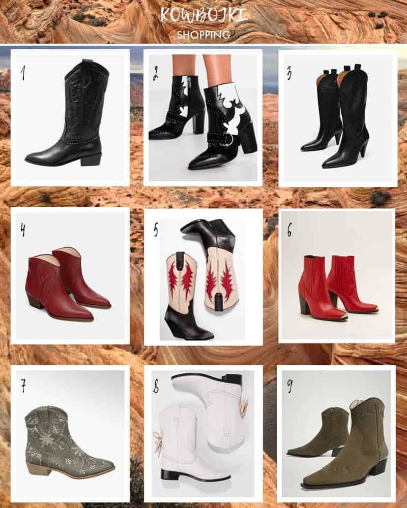 Kowbojki damskie shopping