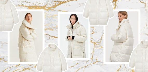 białe kurtki zimowe temat moda